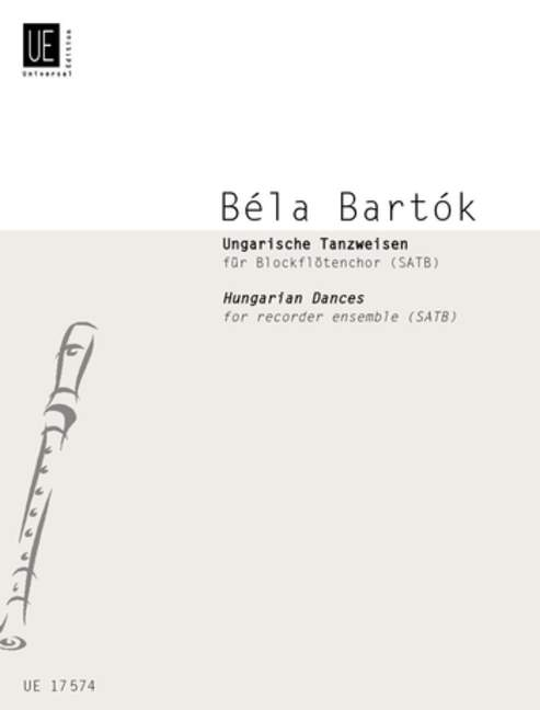 BARTOK-HUNGARIAN-DANCES-4Rec-ScPts-Bartok-Bela-score-and-parts-for-recorder-c